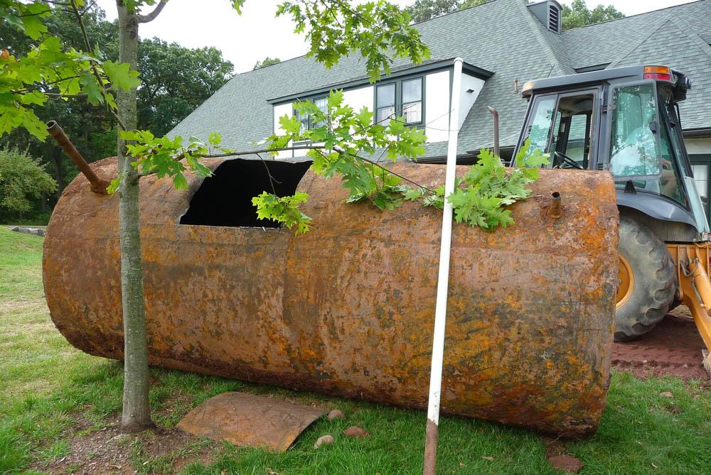 Excavated tank